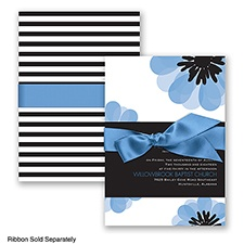 Mod Blooms - Cornflower - Invitation