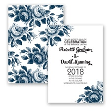 Toile Roses - Peacock - Invitation