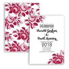 Toile Roses - Apple - Invitation