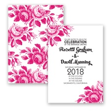 Toile Roses - Watermelon - Invitation