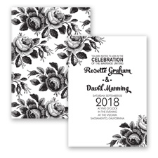 Toile Roses - Black - Invitation