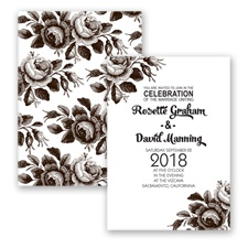 Toile Roses - Chocolate - Invitation