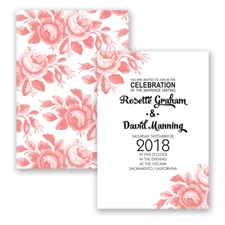 Toile Roses - Coral Reef - Invitation