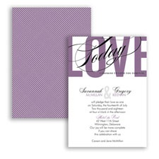 Typography Tribute - Wisteria - Invitation
