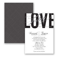 Typography Tribute - Black - Invitation
