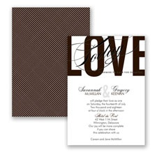 Typography Tribute - Chocolate - Invitation