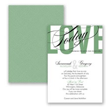 Typography Tribute - Clover - Invitation
