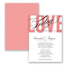 Typography Tribute - Coral Reef - Invitation