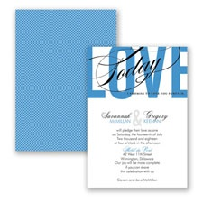 Typography Tribute - Cornflower - Invitation