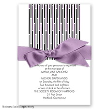 Splash of Color - Wisteria - Invitation