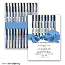 Splash of Color - Cornflower - Invitation