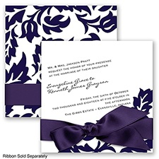 Modern Damask - Lapis - Invitation