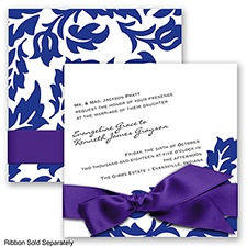 Modern Damask - Regency - Invitation