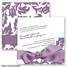 Modern Damask - Wisteria - Invitation