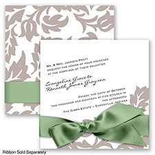 Modern Damask - Biscotti - Invitation