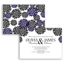 Delightful Floral - Lapis - Invitation