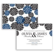 Delightful Floral - Marine - Invitation