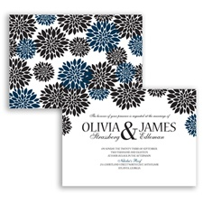 Delightful Floral - Peacock - Invitation