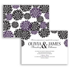 Delightful Floral - Plum - Invitation