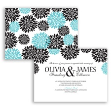 Delightful Floral - Pool - Invitation