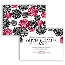 Delightful Floral - Apple - Invitation