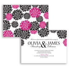 Delightful Floral - Watermelon - Invitation