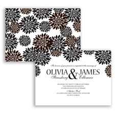 Delightful Floral - Chocolate - Invitation
