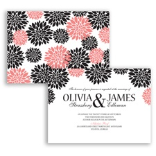 Delightful Floral - Coral Reef - Invitation
