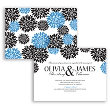 Delightful Floral - Cornflower - Invitation