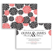 Delightful Floral - Guava - Invitation