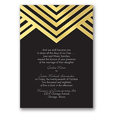 Deco Typography Foil - Invitation
