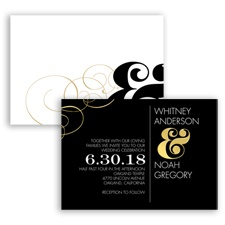Boldly Embellished Foil - Invitation