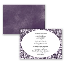 In The Spotlight - Plum - Invitation