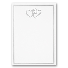 Silver Border and Double Hearts