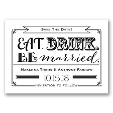 Be Married - Black - Save the Date