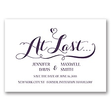 Love at Last - Plum - Save the Date