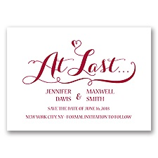 Love at Last - Apple - Save the Date