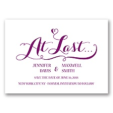 Love at Last - Sangria - Save the Date