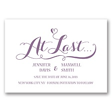 Love at Last - Wisteria - Save the Date