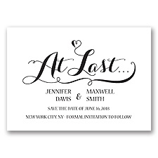 Love at Last - Black - Save the Date