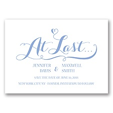 Love at Last - Bluebird - Save the Date
