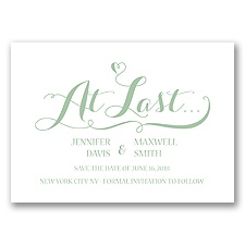 Love at Last - Meadow - Save the Date