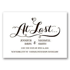 Love at Last - Chocolate - Save the Date