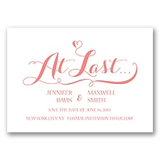 Love at Last - Coral Reef - Save the Date