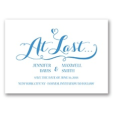 Love at Last - Cornflower - Save the Date