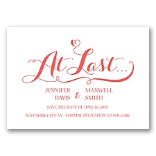Love at Last - Guava - Save the Date