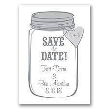 Mason Jar - Mercury - Save the Date