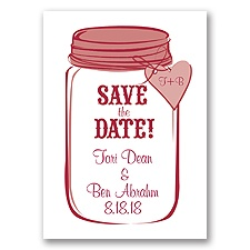 Mason Jar - Apple - Save the Date