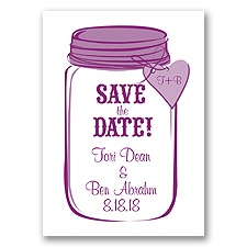 Mason Jar - Sangria - Save the Date