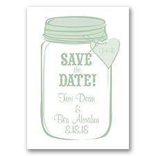 Mason Jar - Meadow - Save the Date